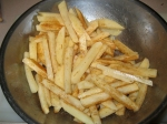 Potato fries tossed with veggie oil and season salt