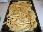 Potato fries ready to go into the oven