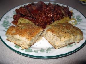 Focaccia and spaghetti